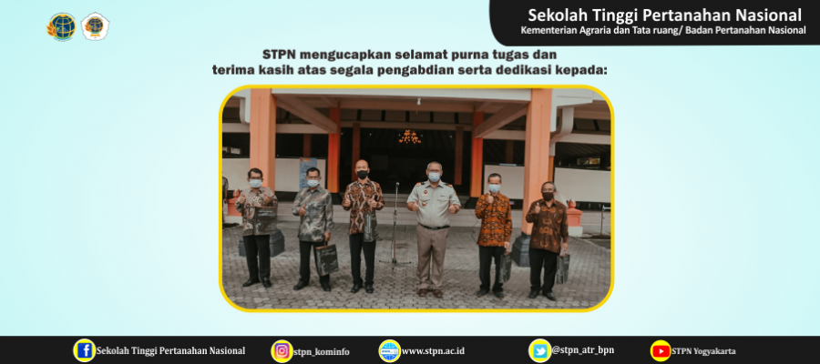 Pelepasan Lima Pegawai Purna Tugas STPN Yogyakarta