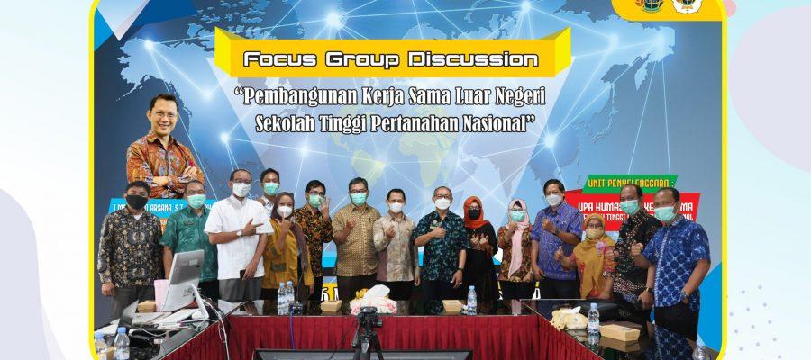 """Focus Group Discussion (FGD) """"Pembangunan Kerja Sama Luar Negeri Sekolah Tinggi Pertanahan Nasional"""