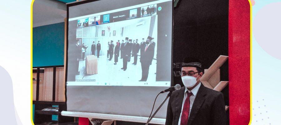 Acara Pelepasan Kepala Pusat Pengembangan Pembelajaran dan Penjaminan Mutu Internal Sekolah Tinggi Pertanahan Nasional dalam jabatan baru sebagai Kepala Bidang Survei dan Pemetaan Kantor Wilayah Badan Pertanahan Nasional Provinsi Kalimantan Selatan